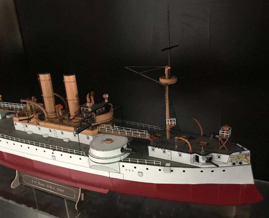 Incrociatore USS MAINE - modello in carta 1:200 Maine120