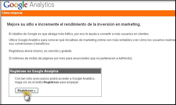 Posibilidad directa de poner su codigo Google Analytics Google12