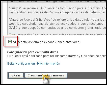 Posibilidad directa de poner su codigo Google Analytics Google14