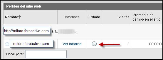Posibilidad directa de poner su codigo Google Analytics Google21