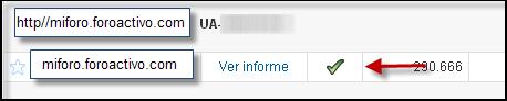 Posibilidad directa de poner su codigo Google Analytics Google23