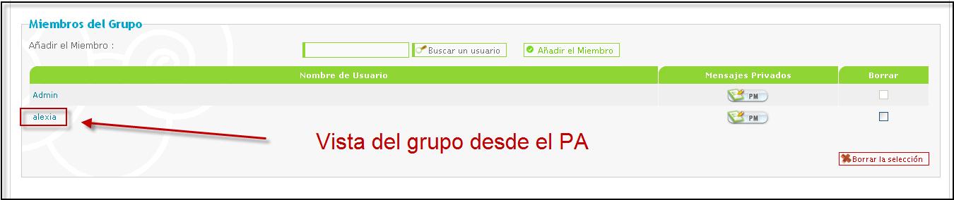 Formar parte de un grupo de manera automatica Grupo114