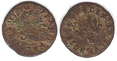 LOUIS XIII LE JUSTE-Denier tournois de Navarre - 1635 Louis_12