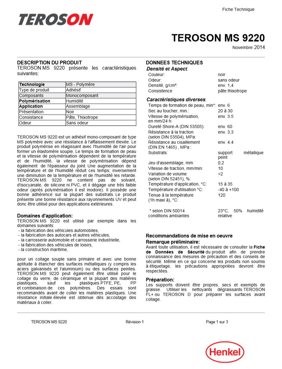 PLAQUE IDENTIFICATION MOTEUR Teroso10