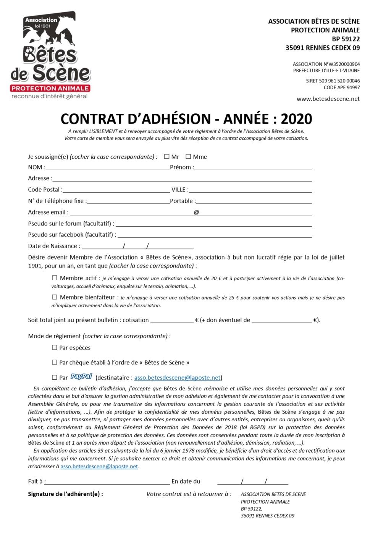 ADHÉSION 2020 Contra10