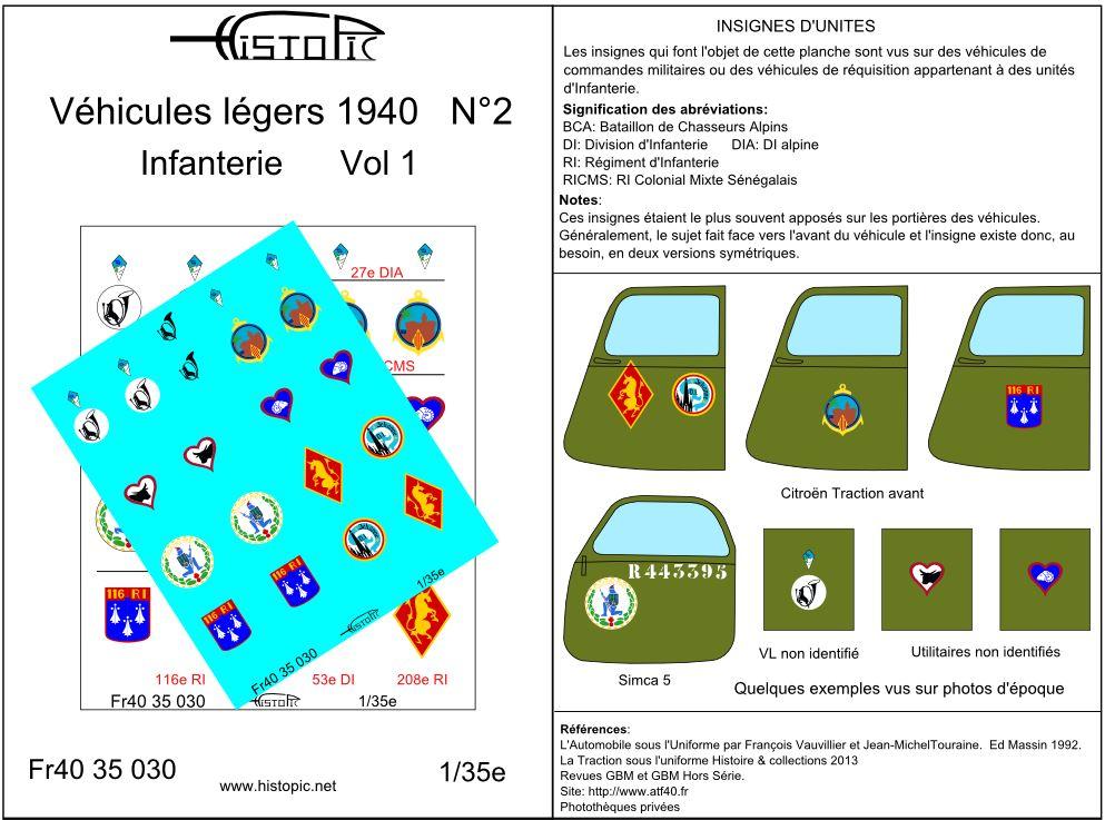 Histopic sort 1 nouveauté au 35e:  Insignes d'unités d'infanterie France 40 Fr40_340
