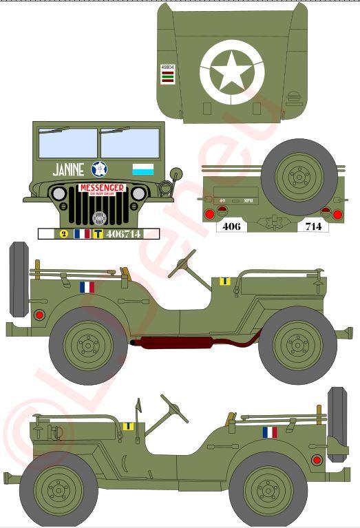 """Jeep """"Janine"""" 97/84 cie Transmissions proto planche décals.  Janine10"""