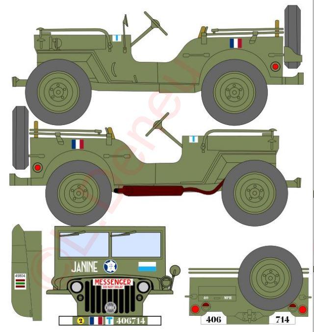 """Jeep """"Janine"""" 97/84 cie Transmissions proto planche décals.  Janine11"""