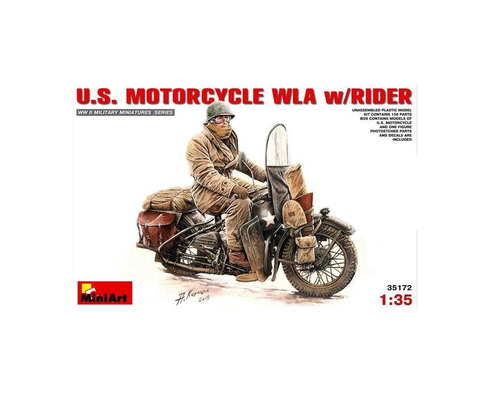 """""""Jeannette"""" Harley Davidson WLA de Daniel Guery en maquette Mini-a10"""