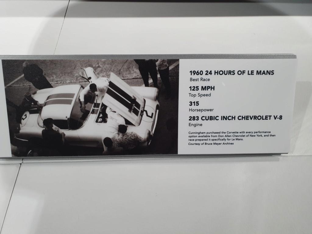 Corvette C1 -LE MANS 1960 - au Petersen Automotive Museum (Los Angeles) 20190711