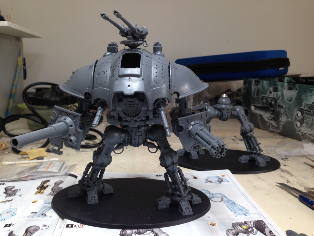 [Peinture] [Warhammer 40,000] Projet Imperial Knight - Weiss Img_2811