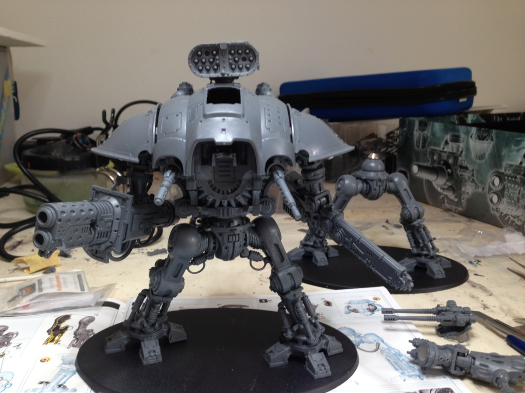 [Peinture] [Warhammer 40,000] Projet Imperial Knight - Weiss Img_2813