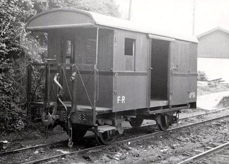 Vagons de fusta de via estreta Catalunya i Espanya Fr5110