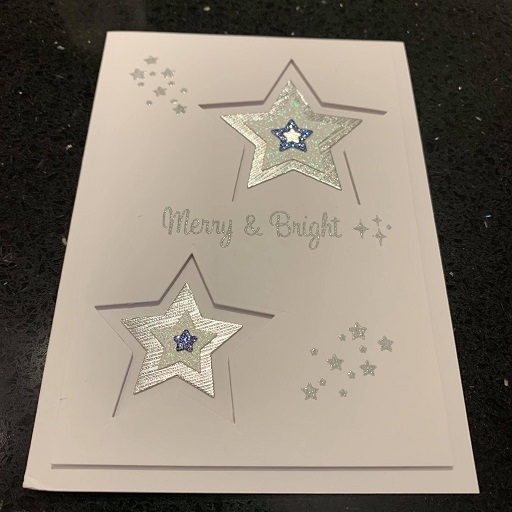 Card and ornament to Tina C111