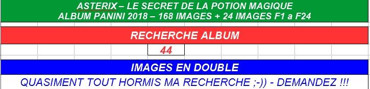 Bourse d'échange Panini: Astérix et le secret de la potion magique Aste_p29