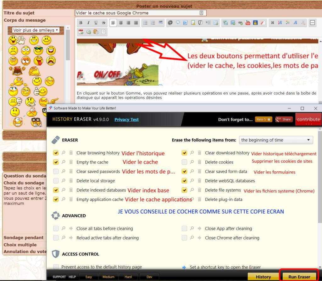 Vider le cache sous Google Chrome Chrome13