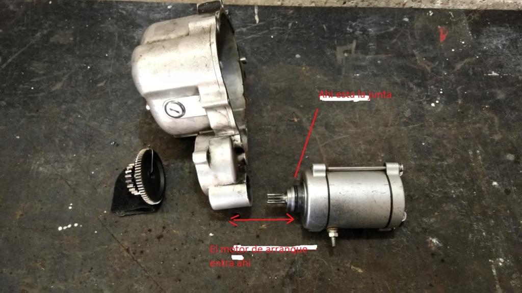 Cómo remover el motor de arranque de una Keeway SUperlight 150. 111