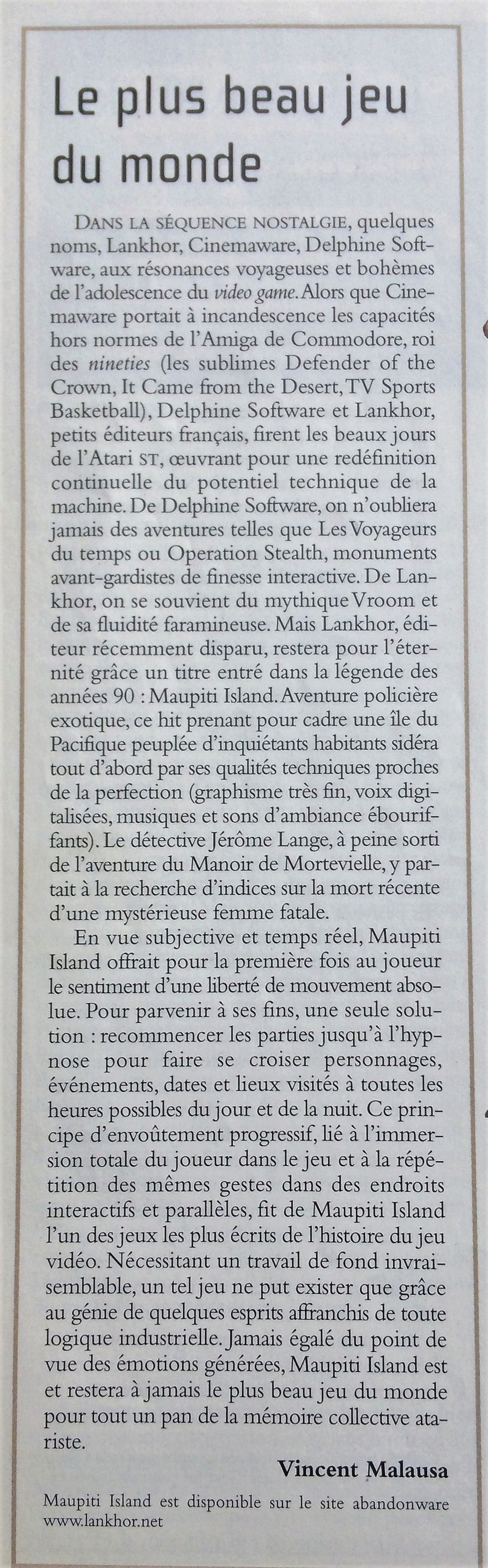 Jérôme Lange bientôt de retour sur Maupiti Island ? Maupit11