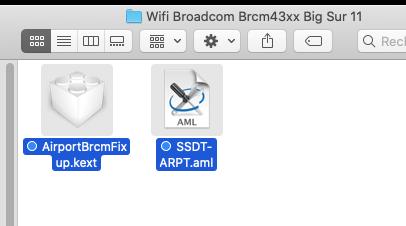 FIX Wifi Broadcom Brcm43xx Big Sur 11 OpenCore Captu238