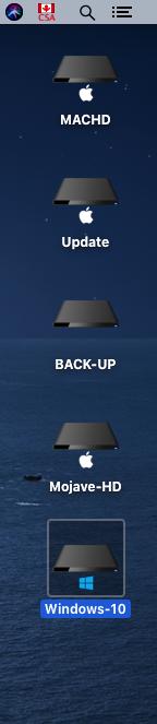 Changer l'icône du volume de Windows 10 dans Catalina Captu241