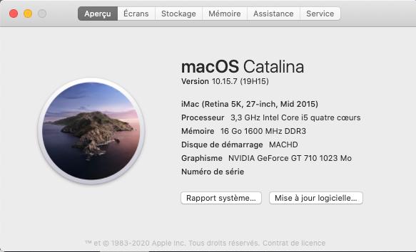 macOS Catalina 10.15.7 Mise a jour supplémentaire (19H15) Captu275