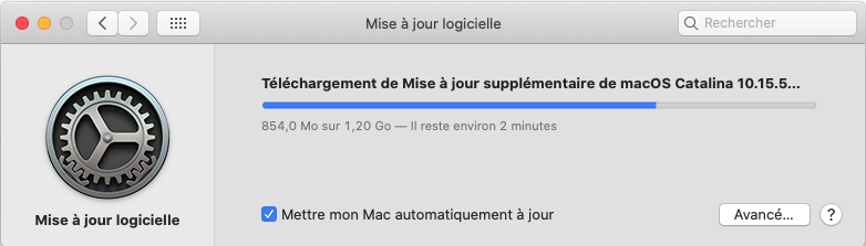 Mise a jour de supplémentaire macOS Catalian 10.15.5 (19F101) Captur76