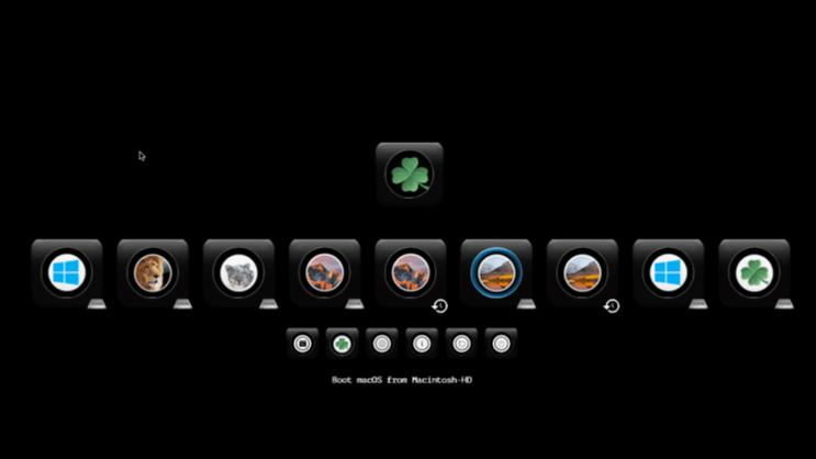Cacher aprtitions windows dans le Clover boot menu Screen17