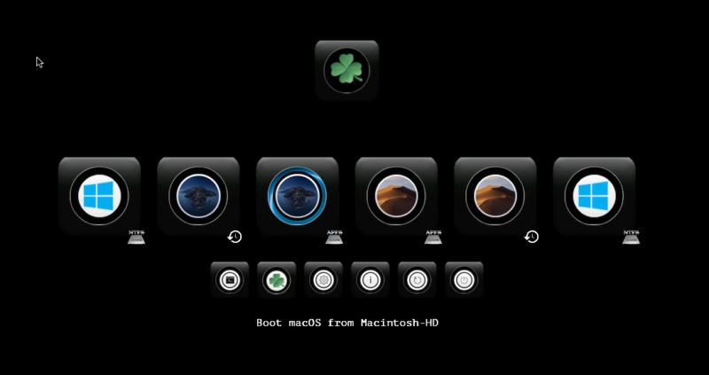 Cacher aprtitions windows dans le Clover boot menu Screen19
