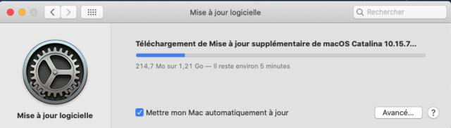 macOS Catalina 10.15.7 Mise a jour supplémentaire (19H15) Suplem10