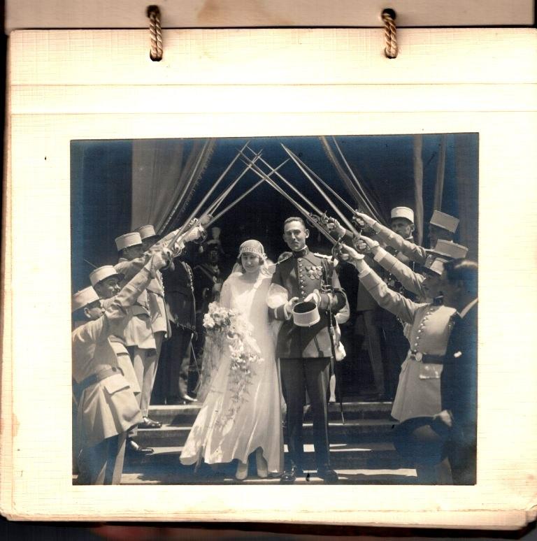grosse identification album photo mariage officiers français tenues modèle 22  000236