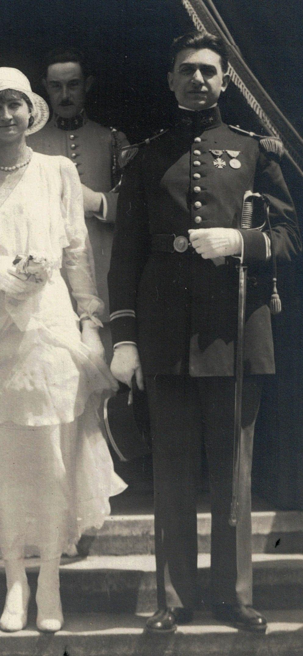grosse identification album photo mariage officiers français tenues modèle 22  005b12