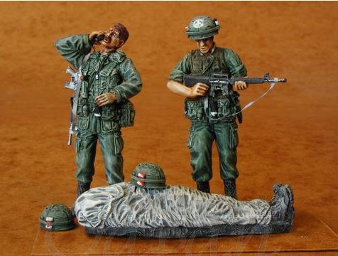 Soldats U.S Vietnam. 1/35 Verlinden Bravo 6   Fini Cmk_3510