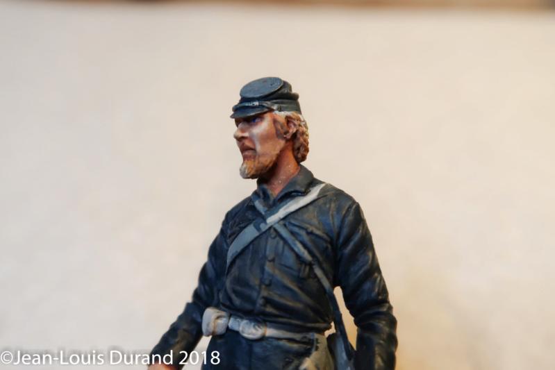 Soldat confédéré - GRX Diffusion - Résine 75mm - Acryliques Confzo12