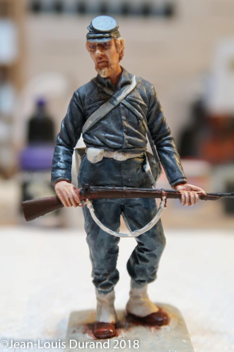 Soldat confédéré - GRX Diffusion - Résine 75mm - Acryliques Confzo14