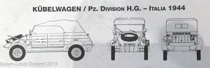 Kübelwagen - Fallschirmpanzer Division H.G., 2. Flak Bataillon, 1. Kompanie, Italie 1944 - Italeri - 1/35 Kzbelw12