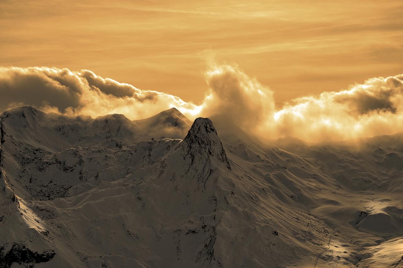 Montagne, sunset sur Anéou... Imgp8010