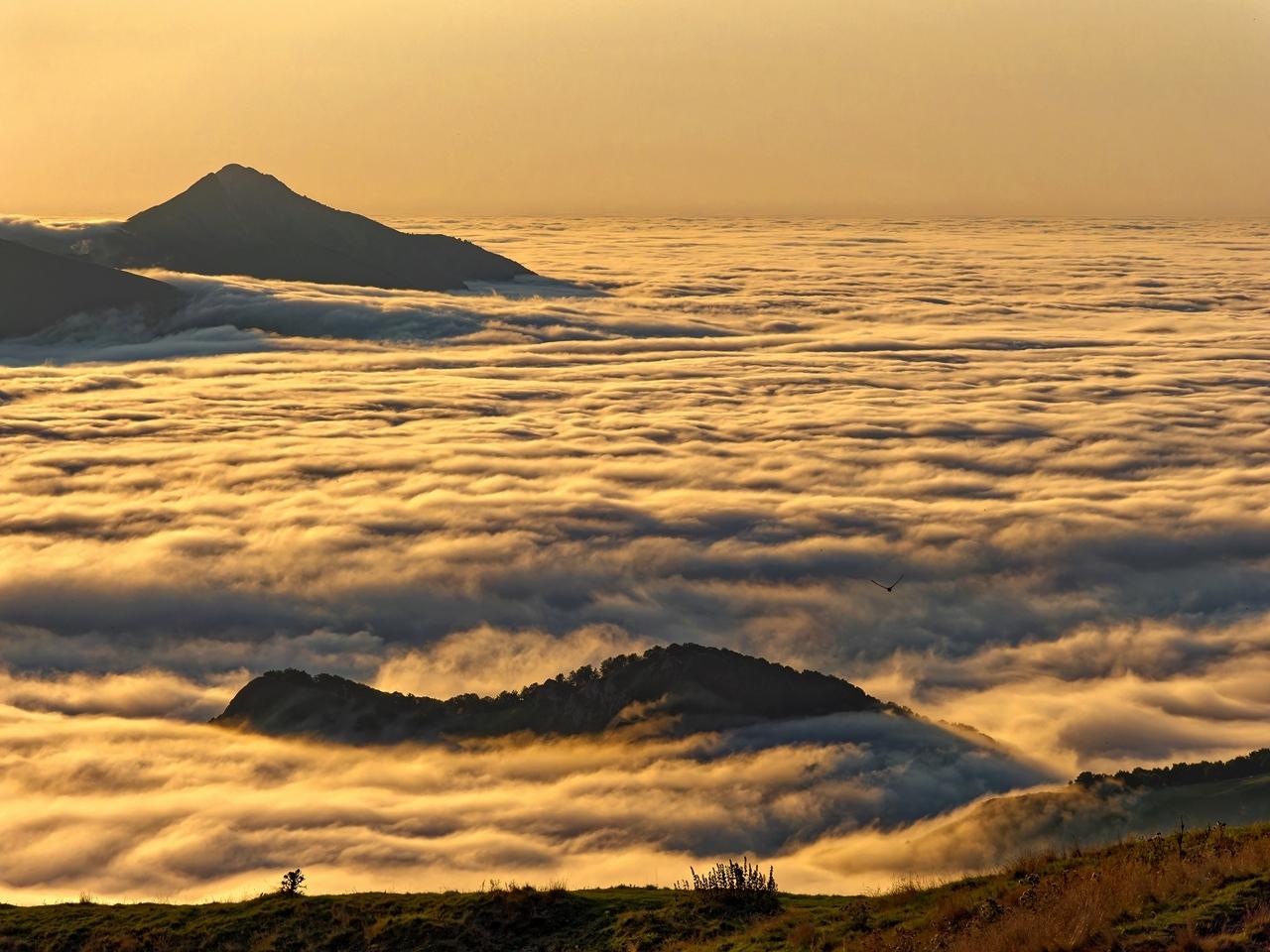 Mer de nuages en montagne P1236510