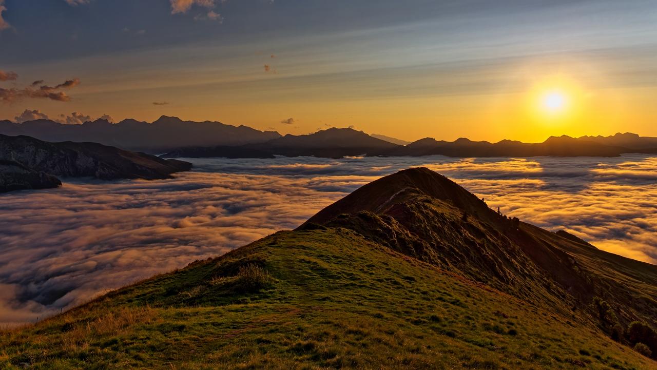 Mer de nuages en montagne P1236511