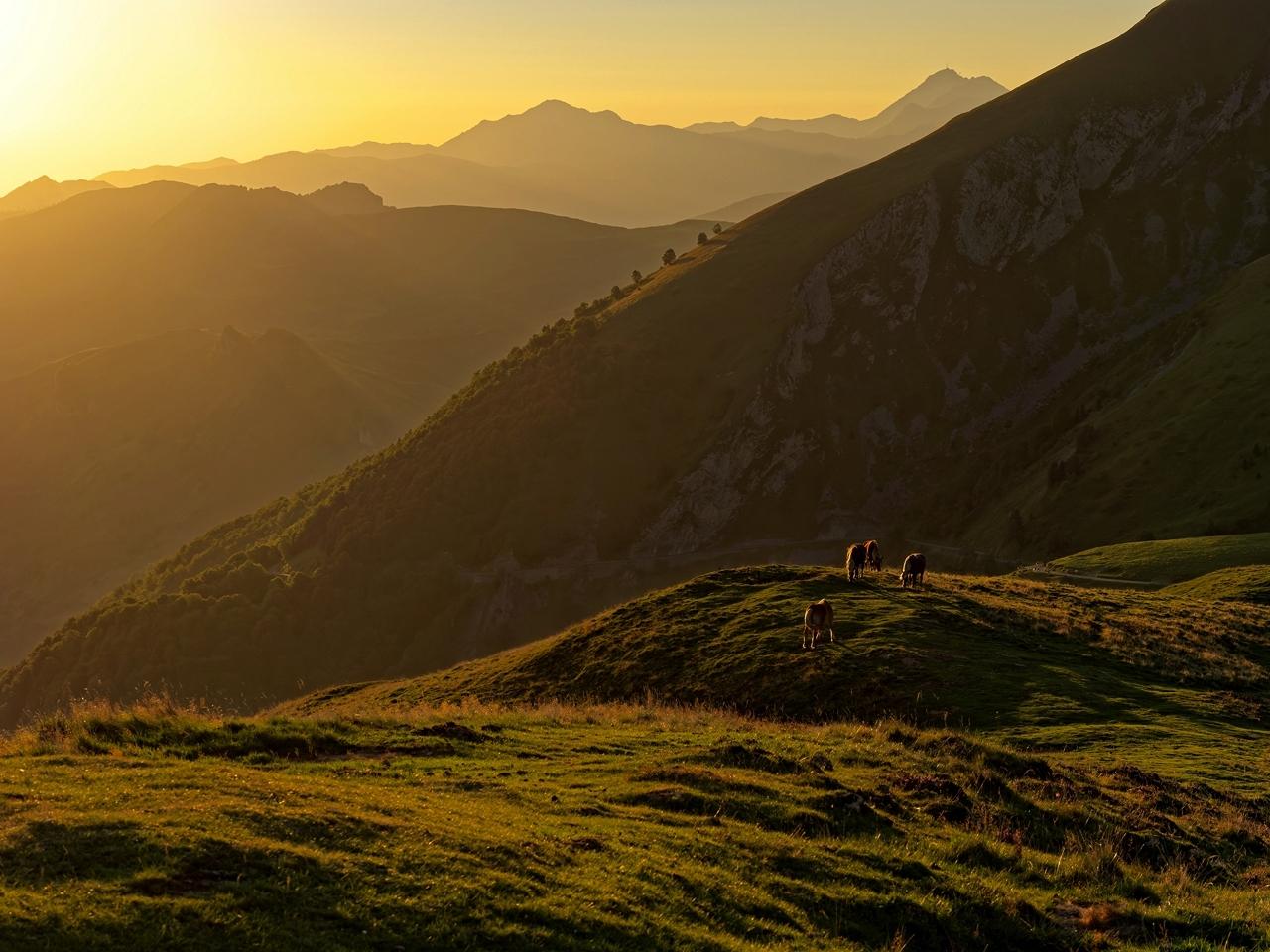 Levé du soleil col d'Aubisque P1236613