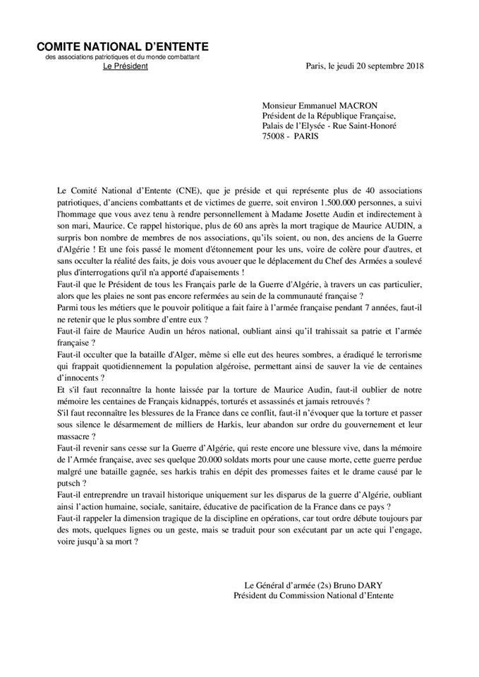 lettre de bruno dary a emanuel  macron  42239310