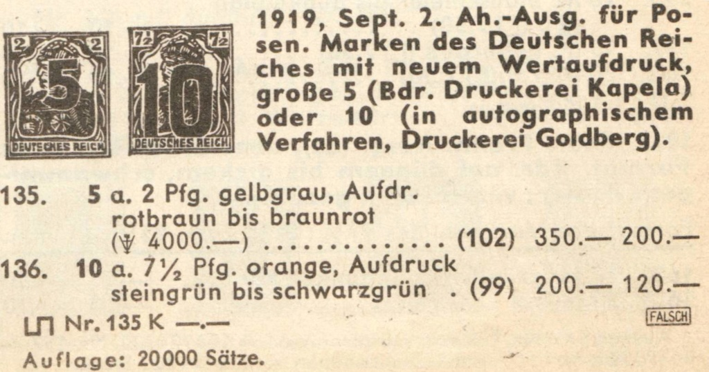 Germania Briefmarke 7 1/2 mit 10 Aufdruck Polen110