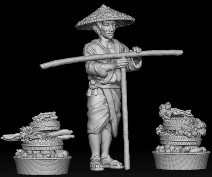 Japanisches Strassenleben der Edo Epoche im Maßstab 1:72 1311