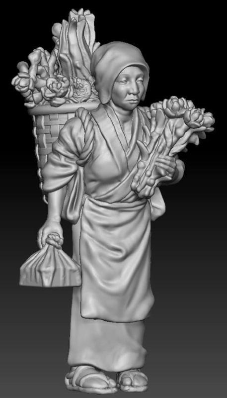 Japanisches Strassenleben der Edo Epoche im Maßstab 1:72 613