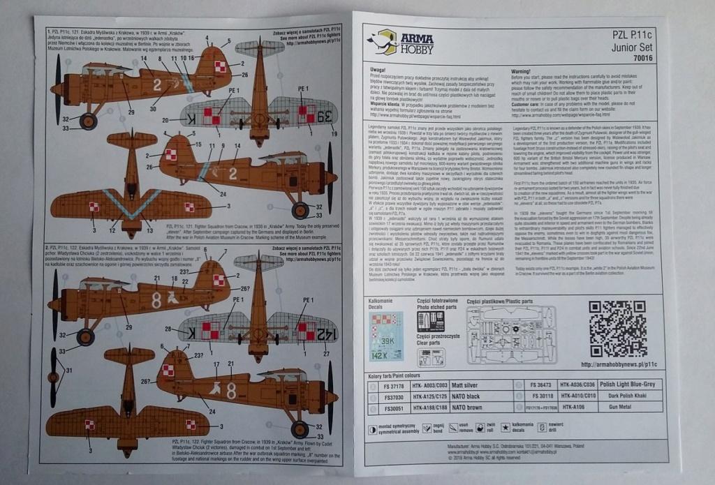 Fil rouge 2020 : PZL P11c (Arma hobby 1/72) 20200116