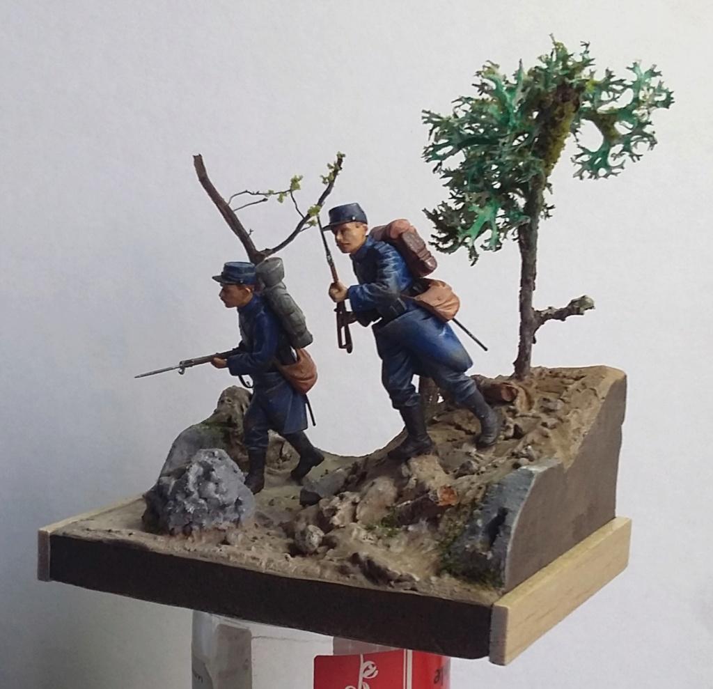 Chasseur à pied et infanterie coloniale-Bataille des frontières 1914 1/35 Dio_2114