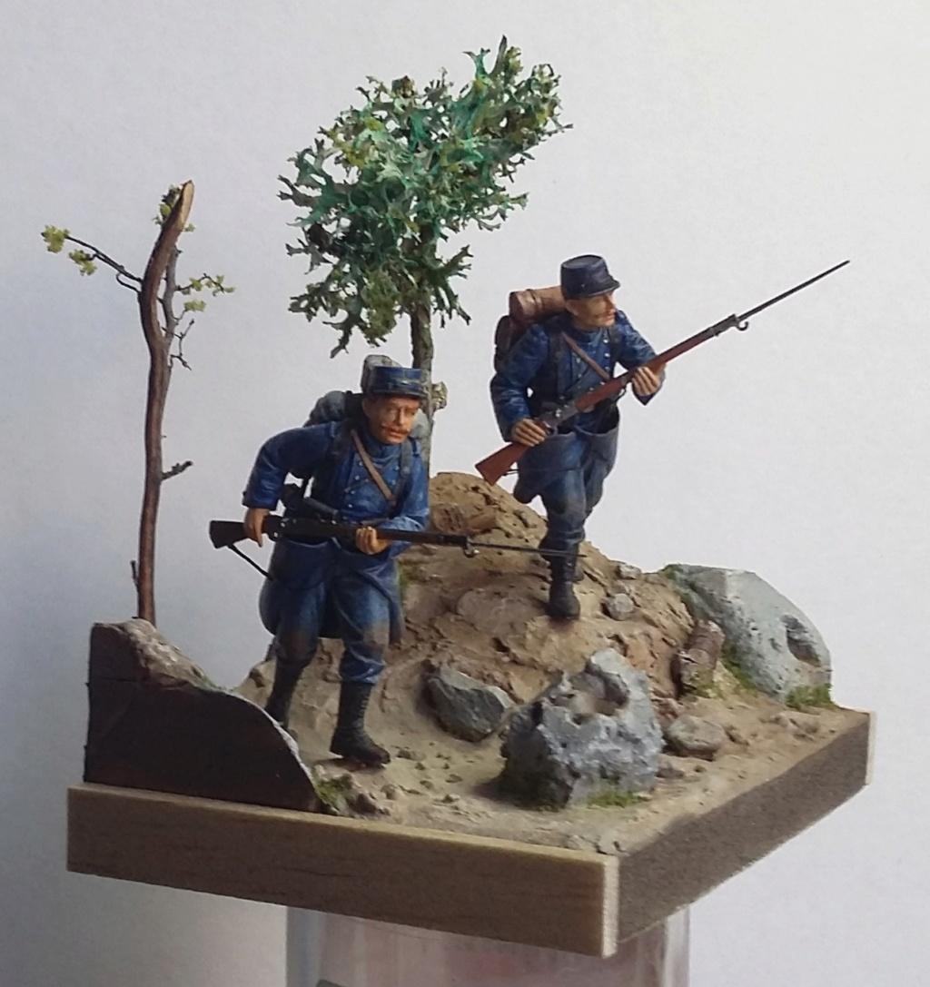 Chasseur à pied et infanterie coloniale-Bataille des frontières 1914 1/35 Dio_2213