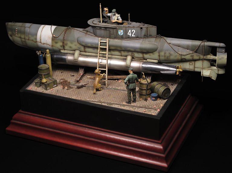 "Diorama sous-marin de poche ""Seehund"" - Bronco - 1/35 92deca10"