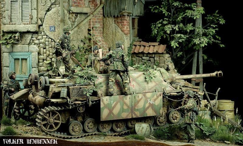 Tiger 1 de Michael Wittmann à Villers Bocage - 1944 - diorama tamiya 1/35 B64dcd10
