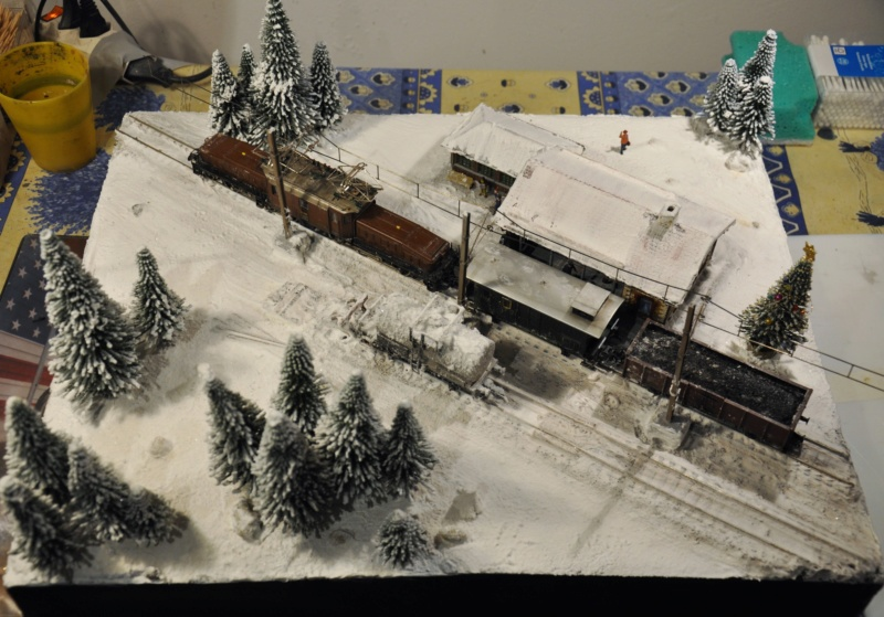 Diorama hivernale - locomotive Crocodile - 1/87 (HO) Dsc_1193