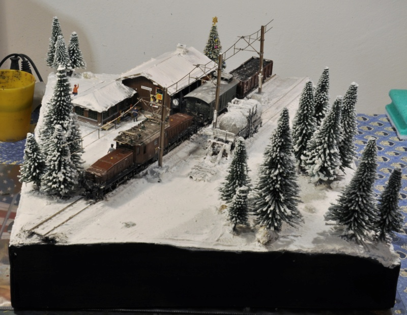 Diorama hivernale - locomotive Crocodile - 1/87 (HO) Dsc_1203